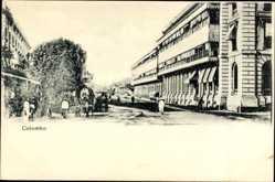 Postcard Colombo Ceylon Sri Lanka, Straßenpartie, Passanten, Gebäude
