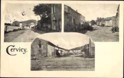 Postcard Cervicy Ardennes, Straßenpartien im Ort, Gebäude