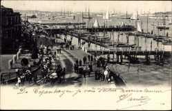 Postcard Kiel in Schleswig Holstein, An der Strandpromenade, Hafen, Segelboote