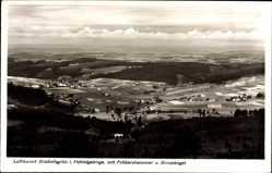 Postcard Bischofsgrün im Fichtelgebirge, Fröbershammer, Birnstengel, Fliegeraufnahme