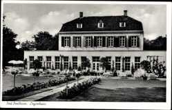 Postcard Bad Bentheim in Niedersachsen, Blick auf das Logierhaus, Garten, Fassade