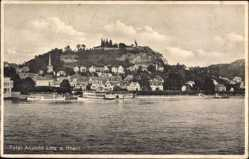 Postcard Linz am Rhein im Kreis Neuwied, Blick auf den Ort vom Wasser aus