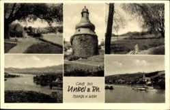 Postcard Unkel am Rhein, Turm, Flusspartie, Salondampfer, Weg, Kirche