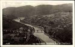 Postcard Ziegelhausen Heidelberg am Neckar, Neckartal, Blick auf den Ort