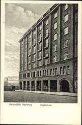 Postcard Hamburg Mitte, Blick auf die Heimstätte des allg. Gewerkschaftsbundes