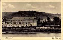 Postcard Unkel am Rhein, Rheinfront mit Blick auf Erholungsheim Pax
