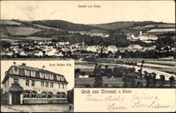 Postcard Crossen an der Weißen Elster Thüringen, Hotel Weißes Ross, Ansicht v. Osten