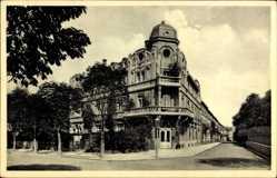 Postcard Freiburg im Breisgau Baden Württemberg, Hotel Post, Otto Rehnig