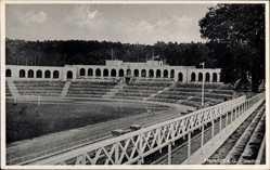 Postcard Frankfurt an der Oder, Blick in das Stadion, Zuschauerränge