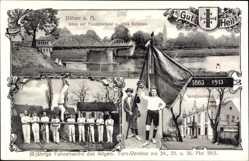 Postcard Bad Düben an der Mulde Sachsen, 50jh Fahnenweihe des Turnvereins, 24 Mai 1913