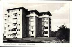 Postcard Hamburg Wandsbek Bramfeld, Gartenstadt Hohnerkamp, Hochhaus