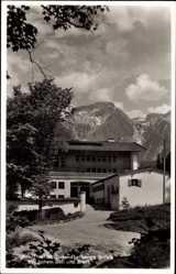 Postcard Strub Bischofswiesen Oberbayern, Adolf Hitler Jugendherberge, Göll, Brett