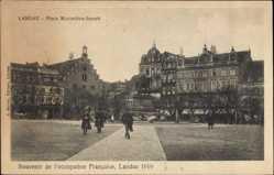 Postcard Landau in der Pfalz, Place Maximilien Joseph, Platz,Occupation Francaise 1919
