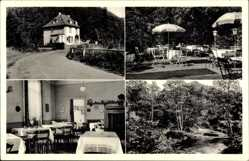 Postcard Roßbach Wied, Hotel Haus Als Au, Innenansicht, Terrasse