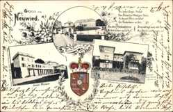 Präge Wappen Ak Neuwied in Rheinland Pfalz, Schloss Monrepos, Segenhaus