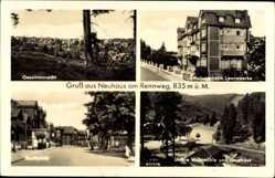 Postcard Neuhaus am Rennweg Thüringen, Erholungsheim Leunawerke, Markt