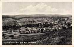 Postcard Tambach Dietharz im Thüringer Wald, Totale vom Gallberg aus