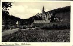Postcard Bad Hönningen im Kreis Neuwied, Schloss Arenfels