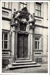 Postcard Volkach im Kreis Kitzingen Unterfranken, Portal des Schelfenhauses