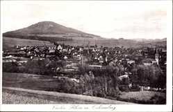 Postcard Vacha im Wartburgkreis, Rhön mit Ochsenberg, Blick auf den Ort