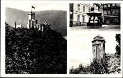 Postcard Oberlahnstein Lahnstein im Rhein Lahn Kreis, Martinsburg, Brunnen, Lahneck