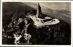 Postcard Kyffhäuserland Thüringen, Blick auf das Kyffhäuser Denkmal, Felsen