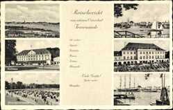 Postcard Travemünde Lübeck Schleswig Holstein, Kurhaus, Strandpromenade, Casino