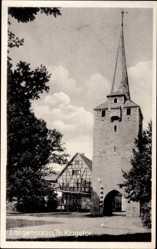 Postcard Bad Langensalza, Blick auf das Klagetor, Turm, Durchgang, Passage, Tor