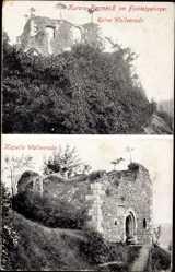 Postcard Bad Berneck im Fichtelgebirge Oberfranken, Ruine Wallenrode, Kapelle