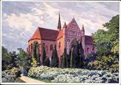 Künstler Ak von Kulas, J., Chorin, Blick auf das Kloster, Aufgang