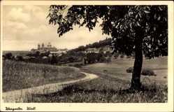 Postcard Weingarten in Württemberg, Blick zur Stadt, Spazierweg, Felder