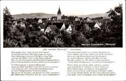 Postcard Endersbach Weinstadt im Remstal, Stadtpanorama, Glockenturm, An meine Heimat
