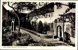 Postcard Kloster Eberbach bei Eltville, Abtei, Eingang, Garten, Gebäude