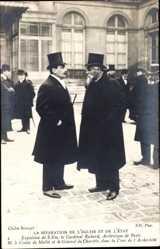 Postcard Séparation des Églises et de l'État 1905, Comte de Mailée,Général de Charette