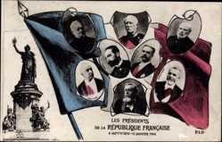 Postcard Présidents de la République, 1870 à 1906, Fallieres, Loubet, Perier, Grevy