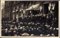 Foto Ak Président de la France Raymond Poincaré, Discours