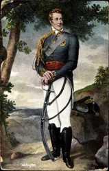 Künstler Ak Waterloo, Duke of Wellington, Napoleonische Kriege