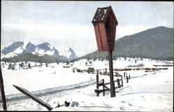 Ak Winter in Oberbayern, Nenke und Ostermaier 1254