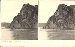 Stereo Ak Bords du Rhin, La Lurlei, Loreleyfelsen, Rhein