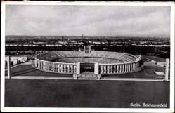 Ak Berlin Charlottenburg, Reichssportfeld aus der Vogelschau, Olympiagelände