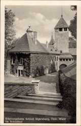 Postcard Elgersburg im Ilm Kreis Thüringen, Erholungsheim, Schlosshof