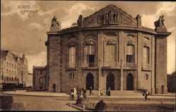 Postcard Düren in Nordrhein Westfalen, Ansicht vom Theater, Passanten