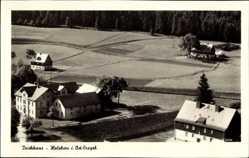 Postcard Holzhau Rechenberg Bienenmühle Erzgebirge, Vogelschau, Teichhaus