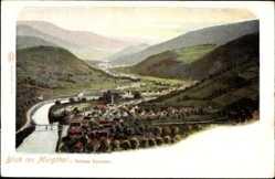 Postcard Gernsbach im Murgtal Baden Württemberg,Blick ins Murgtal v. Schloss Eberstein