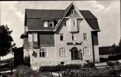 Postcard Neuhaus am Rennweg Thüringen, HO Hotel Hirsch