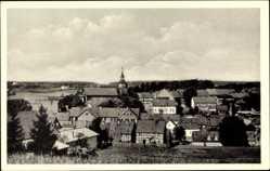 Postcard Benneckenstein Oberharz am Brocken, Totalansicht, Blick von Süden, Kirche