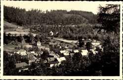 Postcard Sitzendorf an der Schwarza in Thüringen, Teilansicht vom Ort