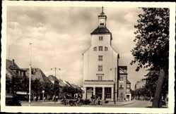 Postcard Treuenbrietzen in Brandenburg, Marktplatz mit Rathaus