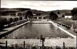 Postcard Uslar in Niedersachsen, Blick in das Schwimmbad