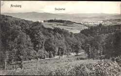 Postcard Arnsberg im Hochsauerlandkreis, Seufzertal, Panorama, Wälder, Felder